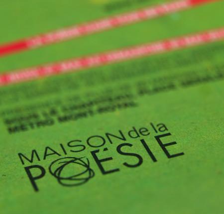 MAISON DE LA POÉSIE